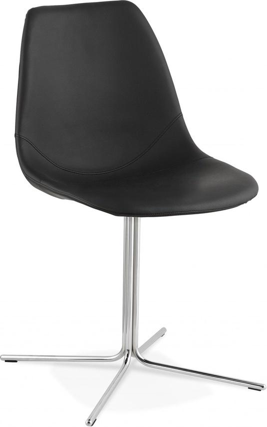 Schwarz Chrom Metall Bedford Design Leder Stuhl Kokoon Qupszvlmg